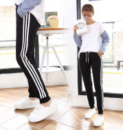 2020 new autumn pants female Korean striped three stripes all-match slacks Haren Wei running pants