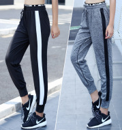 Autumn new high projectile, fast dry Haren pants, loose feet yoga pants and running pants