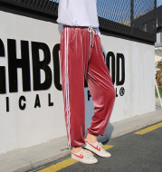 In the spring of the new gold pants pants pants female children Haren loose white pants female feet