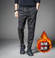 Men's winter camouflage trousers loose pants pants with feet sport Haren Wei pants wholesale thickened feet