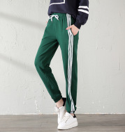 With velvet sport watch in autumn and winter winter female big fat code MM student casual pants loose warm nosing trousers