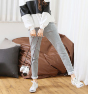 400 gram of cashmere winter sweat pants female Korean feet movement long pants thin tide female casual pants
