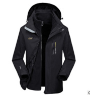 Two pieces of waterproofing and warm warming jacket