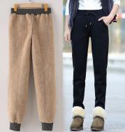 Direct autumn winter lamb cashmere, velvet, velvet, velvet, slacks, pants and loose feet
