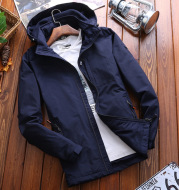 NIANJEEP autumn and winter clothing maleshield outdoor mountaineering suit and a casual and velvet jacket jacket