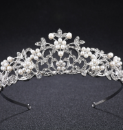 Crown Princess Bride European fashion style pearl diamond wedding wedding jewelry hair accessories