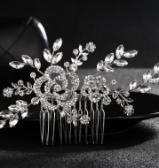 European and American alloy comb hair headdress jewelry diamond wedding bride wedding accessories manufacturers selling combs