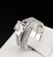 Hot European and American engagement rings diamond sets ring jewelry