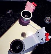 Creative cartoonKT mobile phone universal camera HD wide-angle fisheye macro three in one shot effects