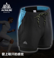 Aonijie sports shorts lining running shorts dry absorbent breathable size spring fitness training pants