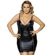 imitation leather strap nightdress