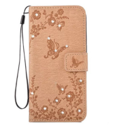 For Galaxy S7 Wallet Case Flip Beautiful Butterfly Flower Diamond Leather Cover For Samsung Galaxy S7 S7 Edge Fundas+Card Slots