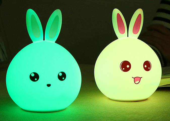 Silicone Pet Bunny Touch Switching LED Night