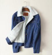 Lambswool Denim Coat