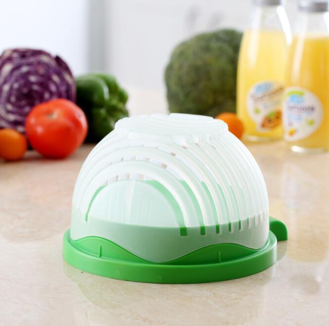 Salade Mix snijden in een paar seconden met deze handige keuken tool de tool is in groot en klein beschikbaar