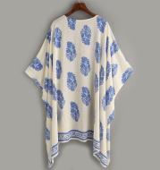 Pattern Print Loose Kimono