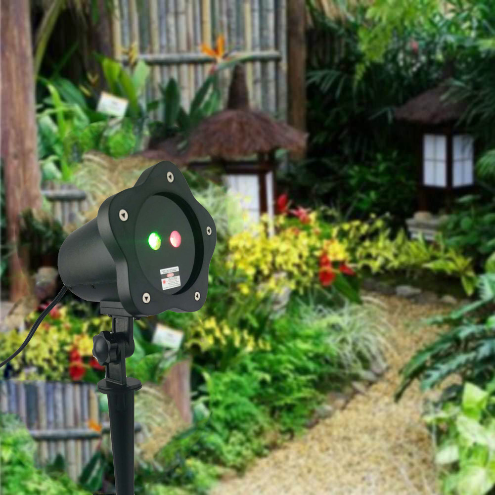 Sky bule 2016 Red and Green Aluminum Outdoor Garden Light Projector Spotlight with RF Remote Control Waterproof