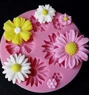 DIY Lovely 3D Flower Fondant Cake Mold Silicone Mould