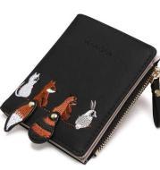 Women's Wallet Lovely Cartoon Animals Short Leather Female Small Coin Purse Hasp Zipper Kid Purse Card Holder For Girls