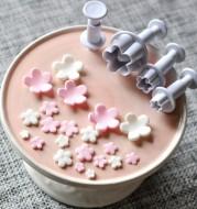 4pcs Plum Flower Plunger Cutter Sugarcraft Fondant Cake Decorating DIY Tool