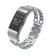 Stainless Steel Double Chain Fitbit Charge 2 Strap