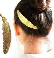 Boho Metal Leaf Hair Clip Barette