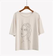 Printed Women Harajuku Short Sleeve Loose T-shirt