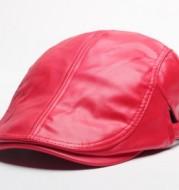 2020 new duck tongue hat wholesale Korean tide duck tongue of men and women PU beret hat factory direct