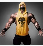 Hooded Skull Bodybuilding Tank Top