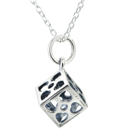 925 Sterling Silver Cubic Pandant Necklace