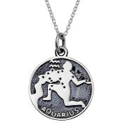 """AQUARIUS""Pendant 925 Silver Necklace"