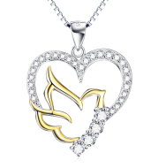 Bird Pendant 925 Sterling Silver Necklace