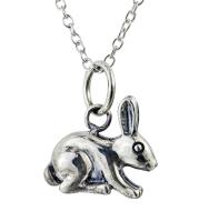 925 Sterling Silver 3D Rabbit Pendant Necklace