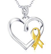 Heart Shape Pendant 925 Sterling Silver Necklace