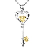 Key Pendant 925 Silver Necklace