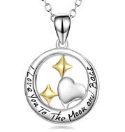 925 Sterling Silver Stars  Shape Necklace