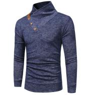 Stand Collar Knitted Sweatshirt