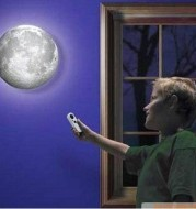 Amazing Remote Control LED Healing Moon Wall Ceiling Night Lamp Kids Gifts Romantic Wall Hanging Lamp