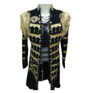 Colonel Progressive Gold Detailed Handmade Military Jacket