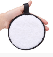 Single round makeup remover