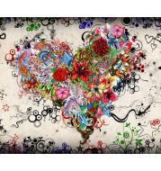 5d diy diamond embroidery heart of flower diamond painting Cross Stitch full square Rhinestone mosaic home decoration gift