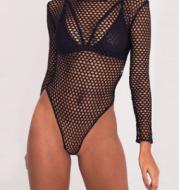 Long Sleeve Fishnet Festival Bodysuit