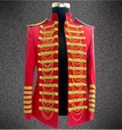 Fashion Royal Costumes for Men DJ Show Stage Performance Wear Clubwear Best Singer Clothing Tassel Decoration DH-028