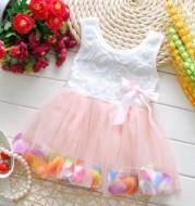 Summer children's wear girl 2021 new petal, Korean dress, baby dress dress