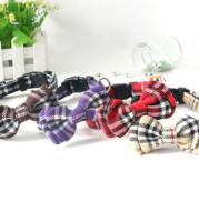New style lattices, tie tie, nylon pet collar, dog neck collar and handle.