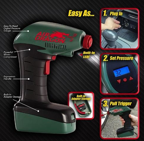 Air Dragon Electric inflatable pump Air Compressor Tire Inflator