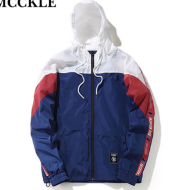 Color matching hooded jacket