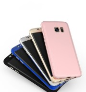 Samsung S8 all inclusive mobile phone shell 360 degree frosted protection PC hard sleeve tempered film.