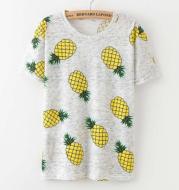 Printing  Fruit Cartoon Pattern T-shirt