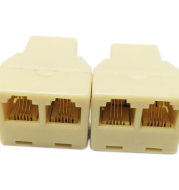 4-core telephone three-way crystal plug